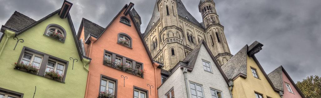 cologne painted houses