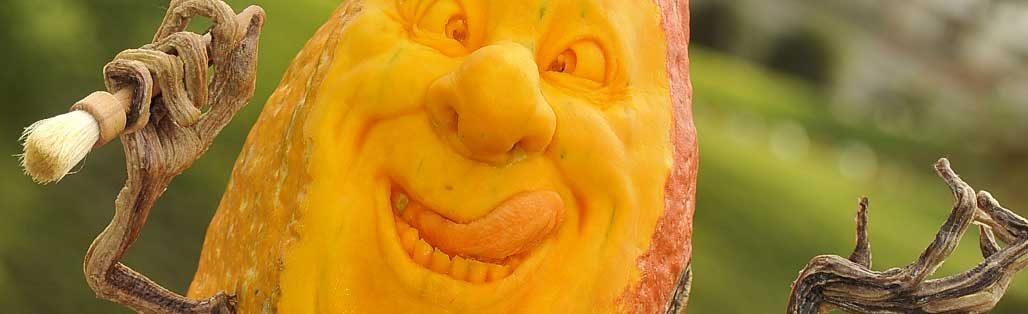 Pumpkinfest carrved face