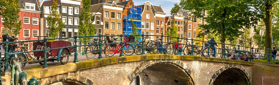 amsterdam bridges and bikes