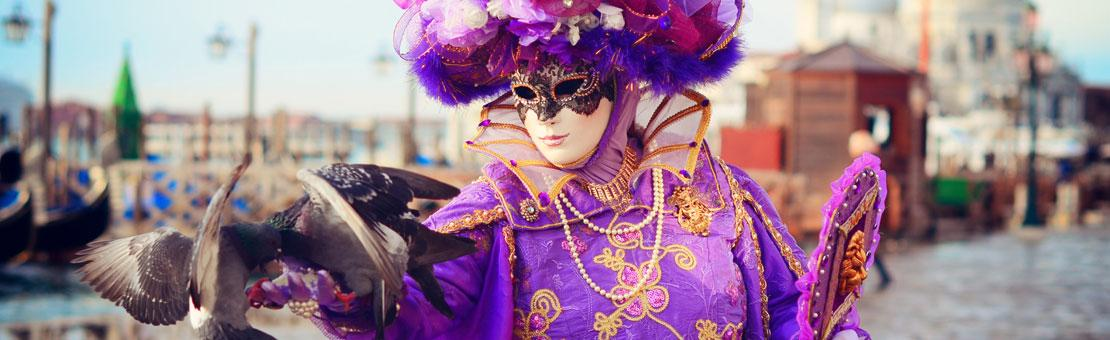 Venice Carnivale Costume Purple