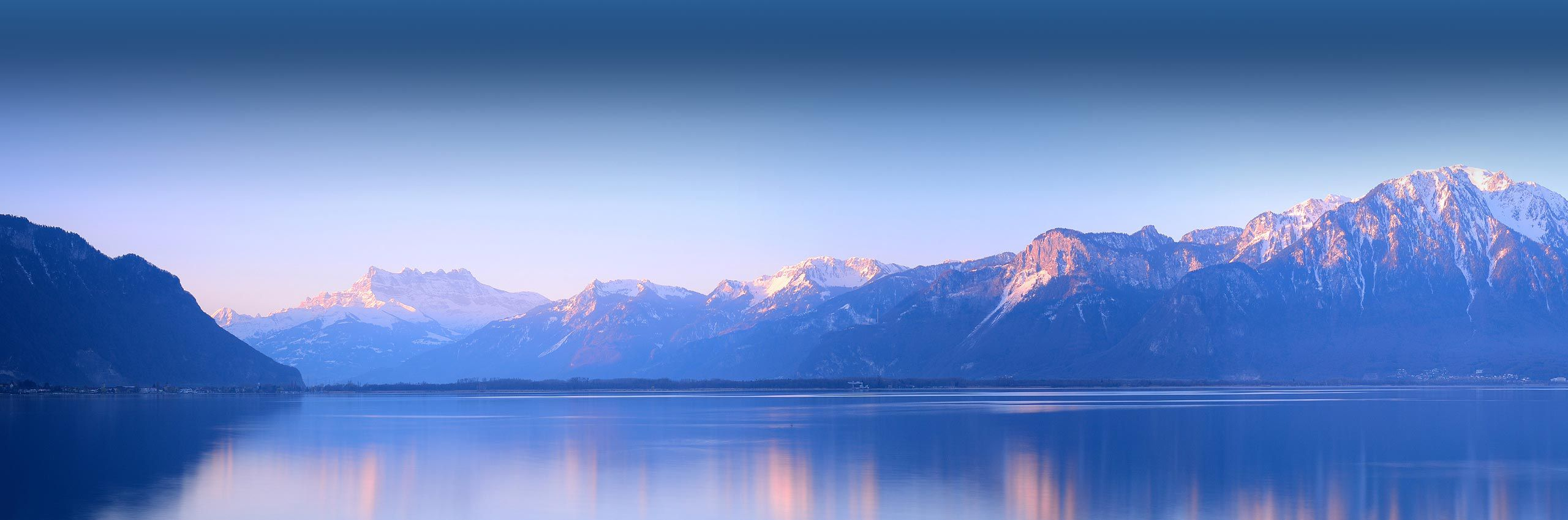 swiss alps and lake geneva